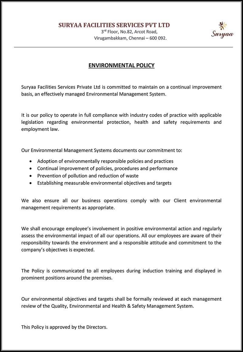 Suryaa-Environmental-Policy